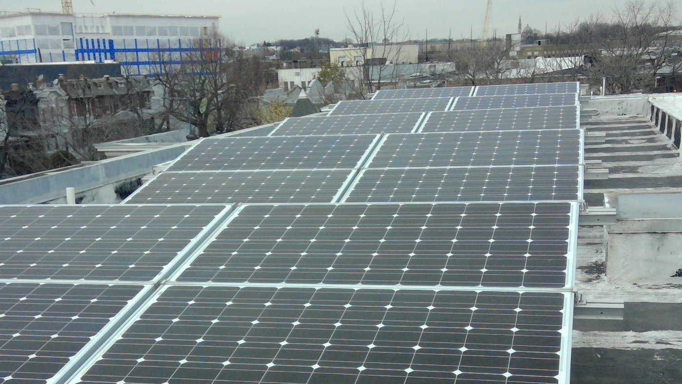 Ballasted solar system in Washington dc