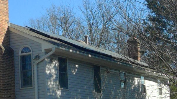 Solar panels installed in Virginia