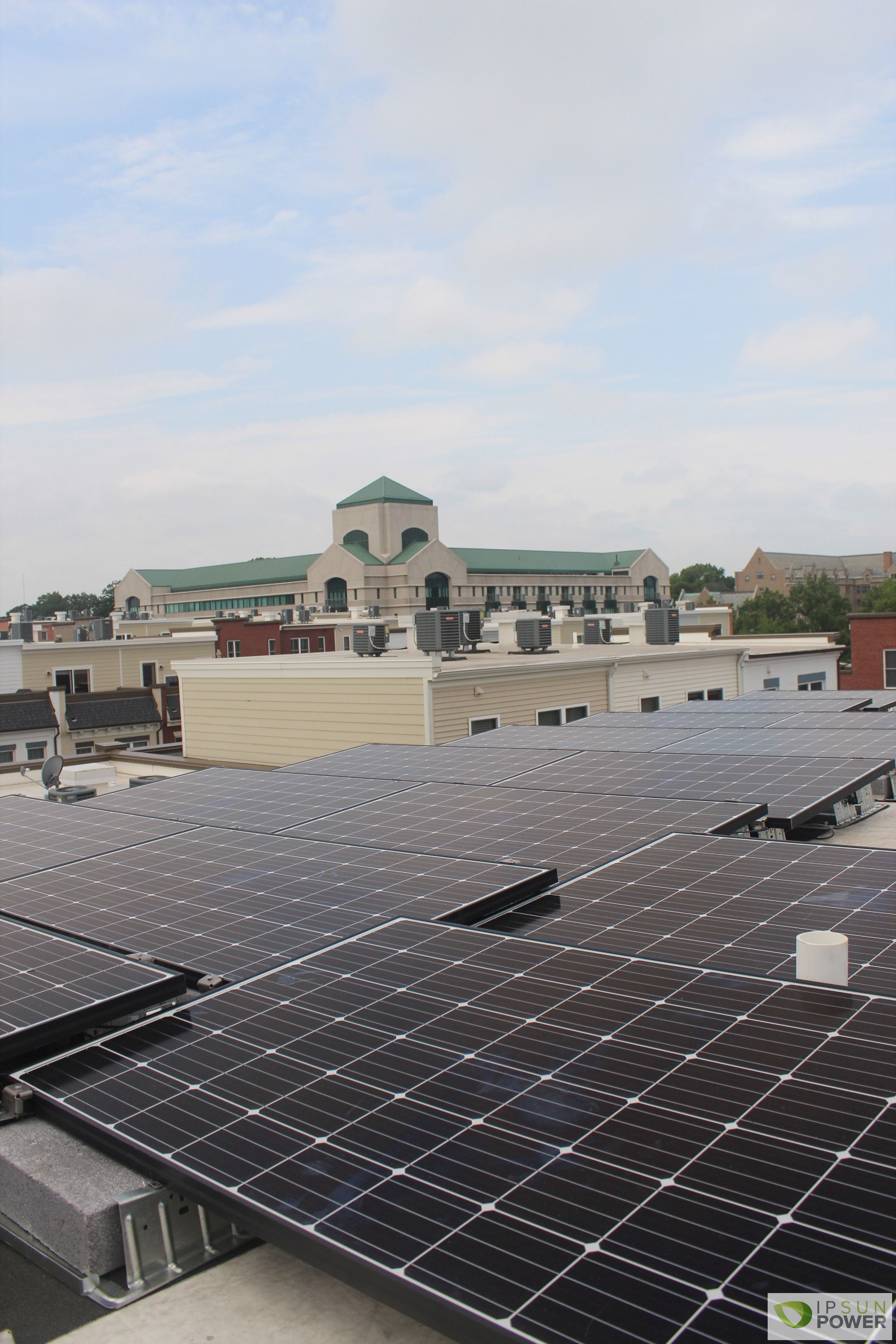 Ballasted solar panels in Washington DC