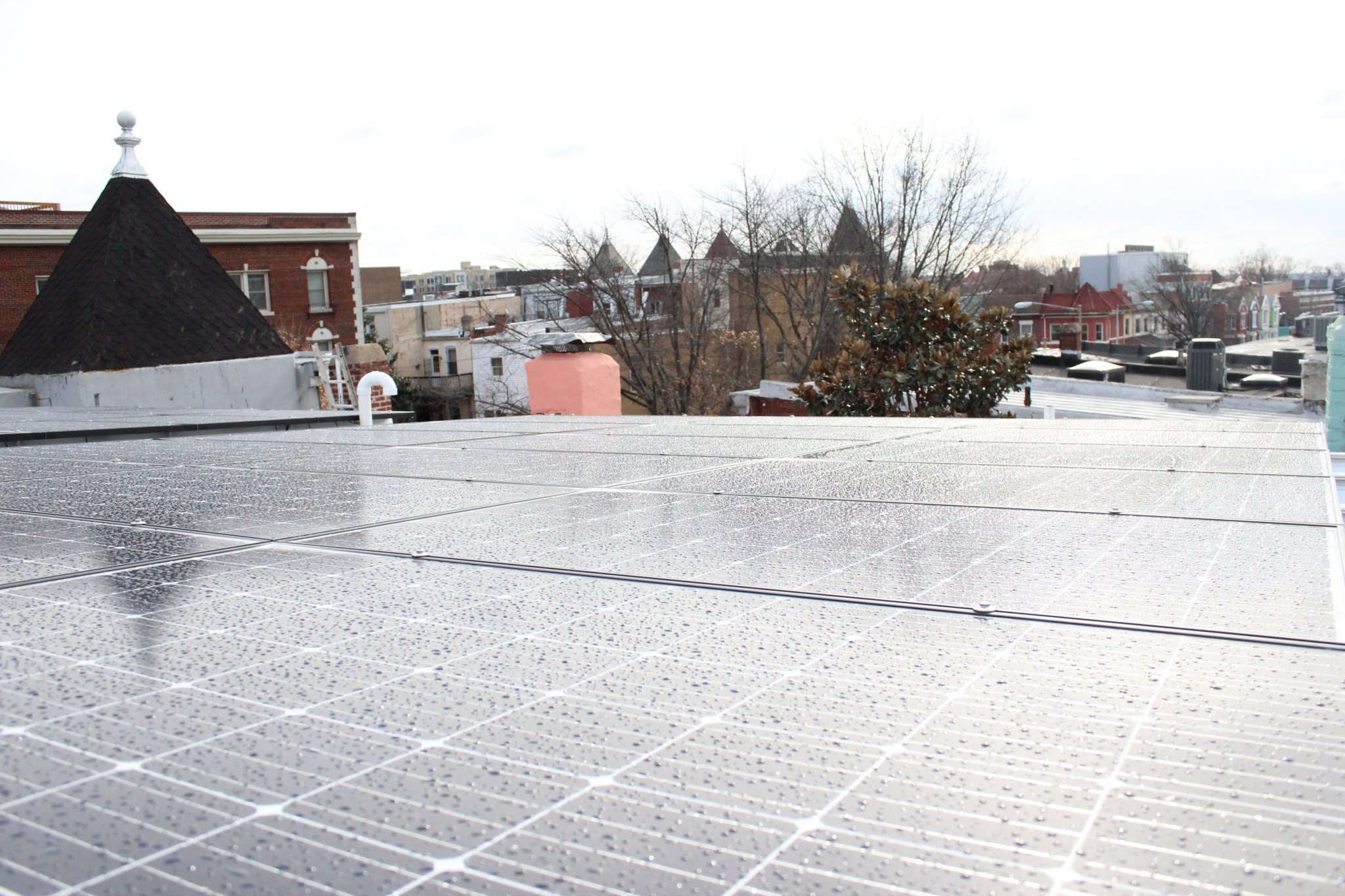 solar panels in Washington DC - parapet 2