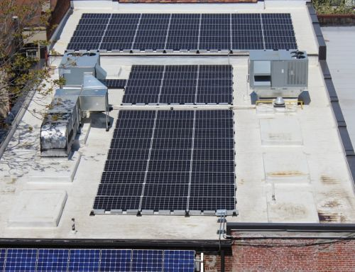 Commercial solar project on H Street in Washington D.C.