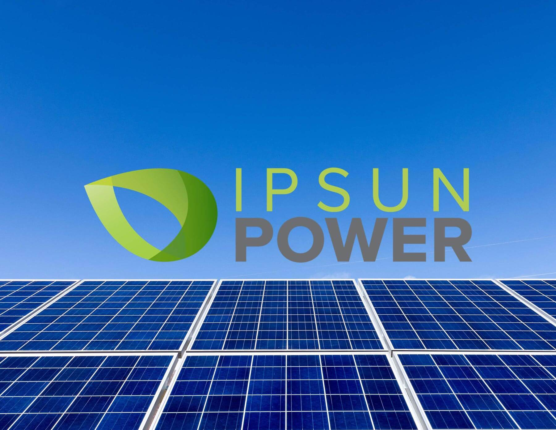 IPSUN POWER solar modules with logo