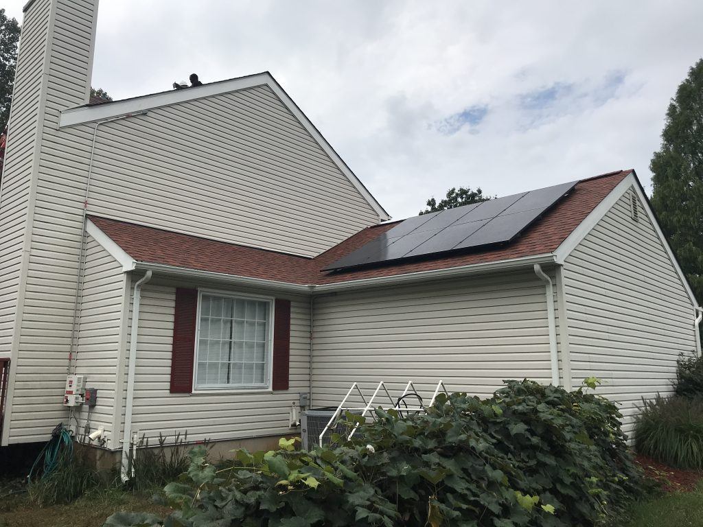 Ipsun Power VA solar panel installation