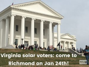 solar lobby day Richmond VA 2019 Jan 24