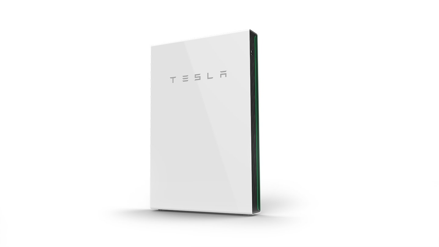 tesla powerwall white background