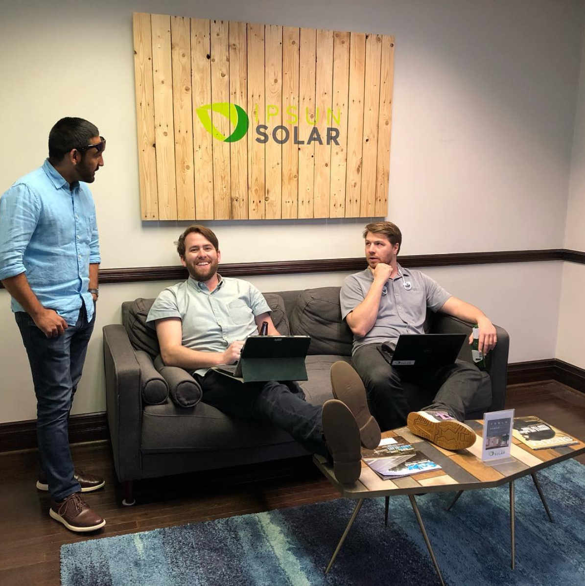 office work at Ipsun Solar