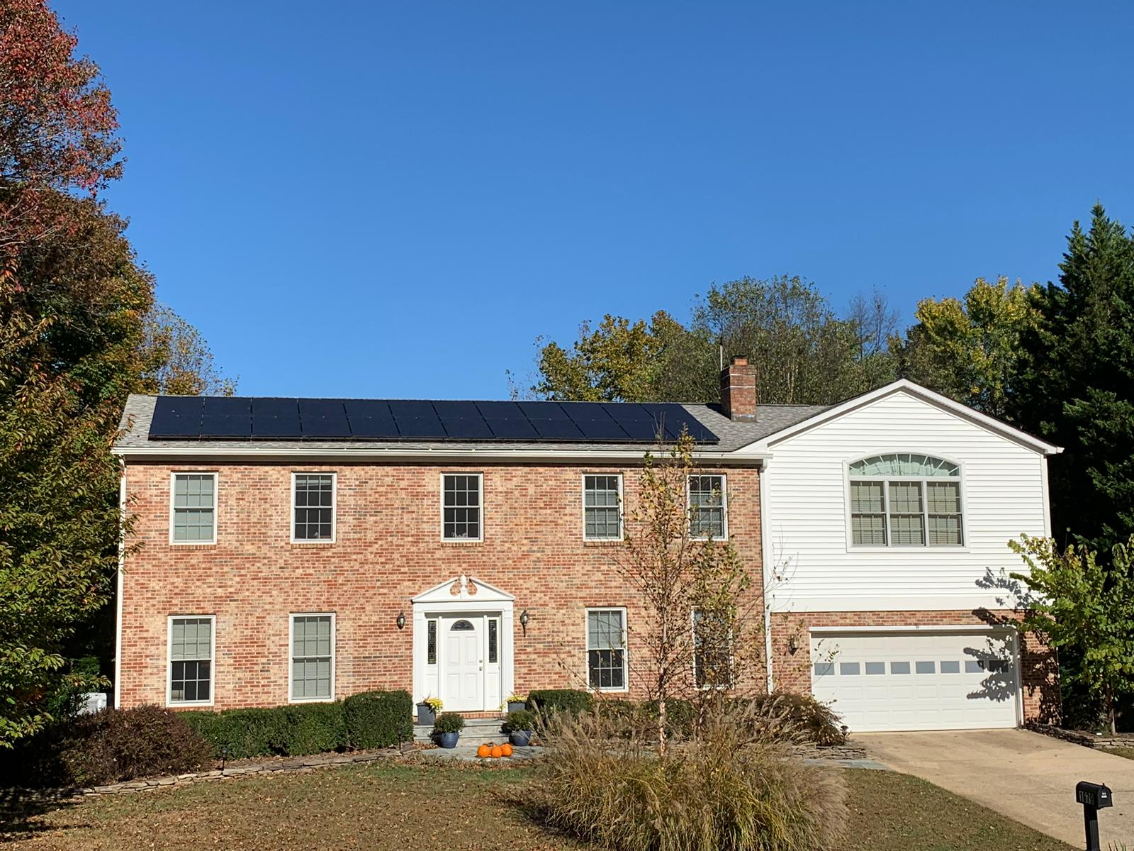 All-black solar modules in Vienna, VA