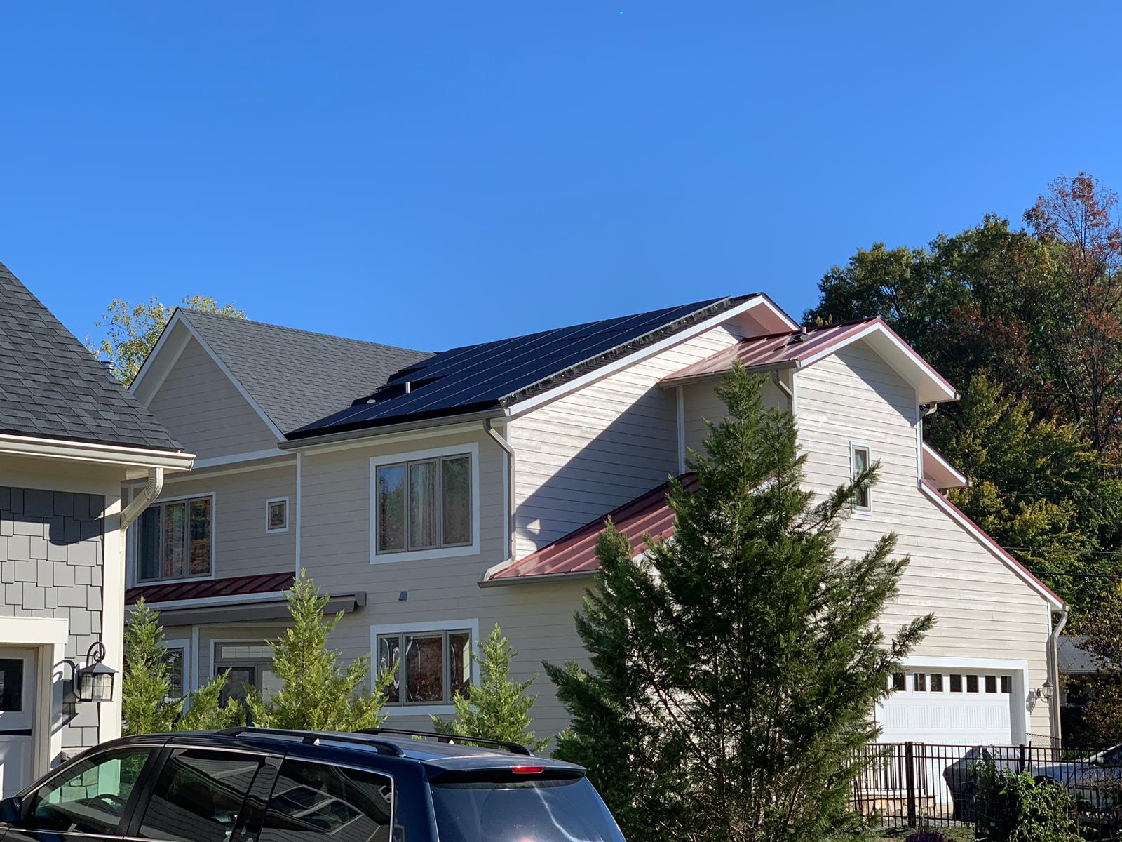 All-black solar modules in Vienna VA