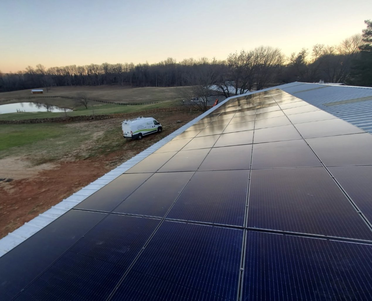 VA Barn solar project