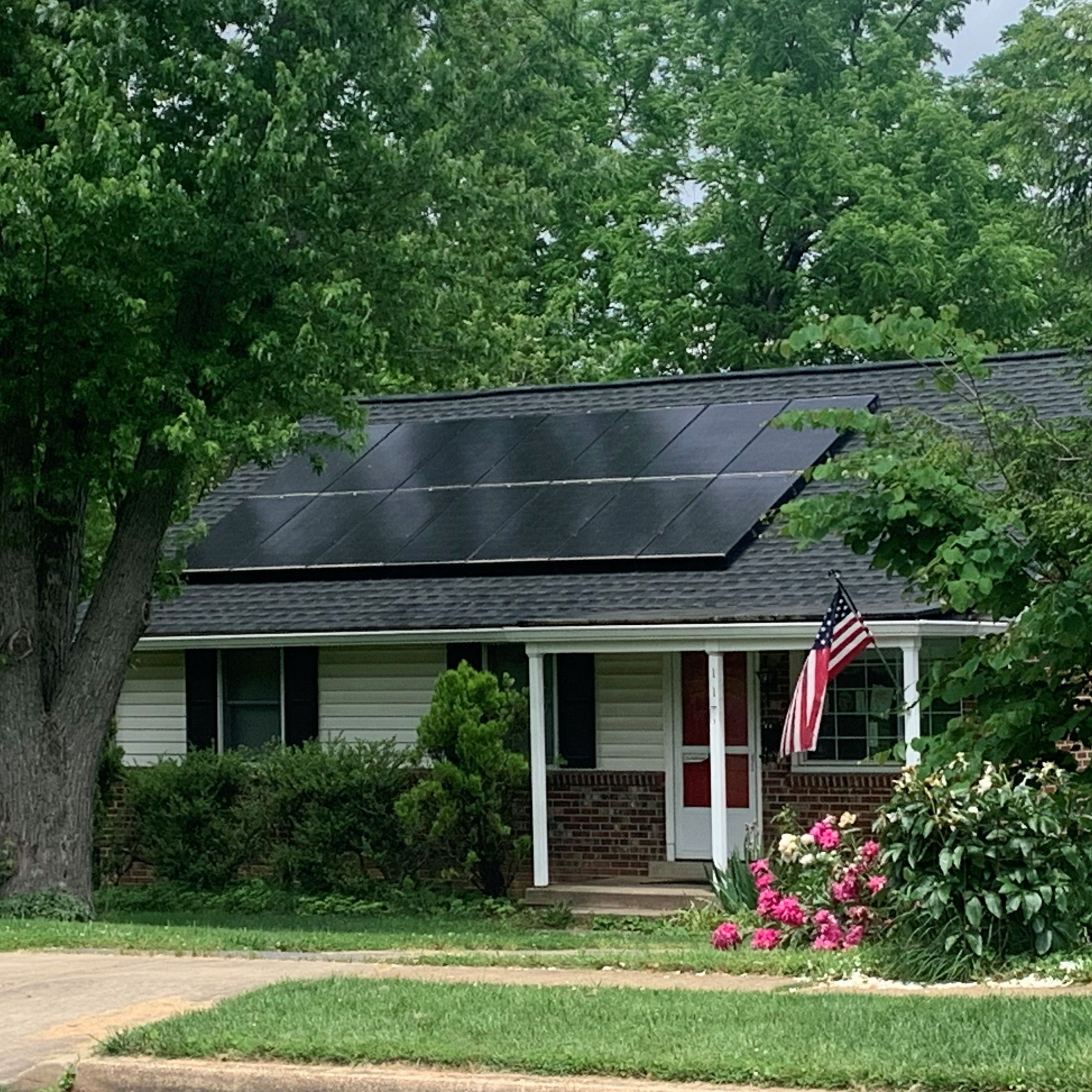 Falls Church VA solar home