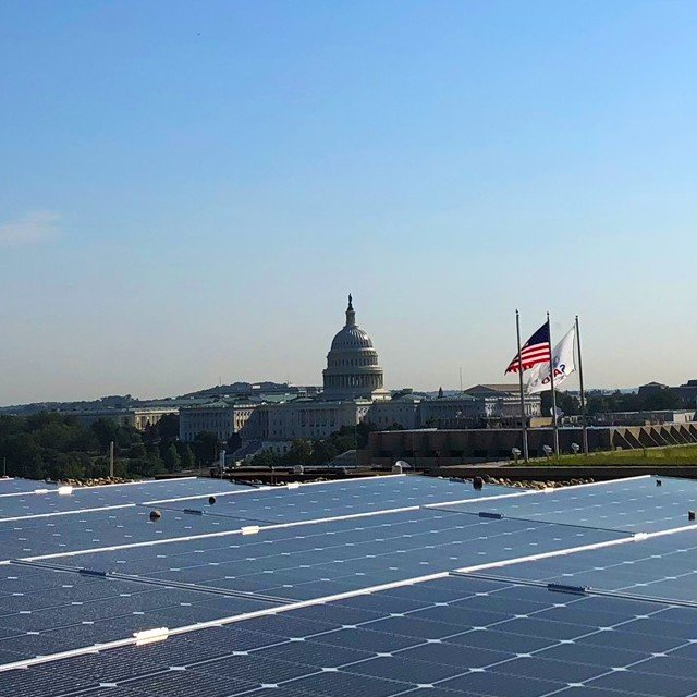 Commercial Solar- US Capitol with Ipsun Solar panels installed in Washington D.C. - resized v2